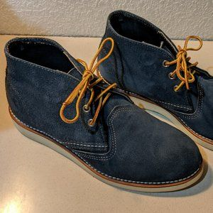 Red Wing Navy Blue Suede Chukka Boots Men 7.5 D